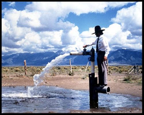 Artesian well, San Luis Valley, Colorado