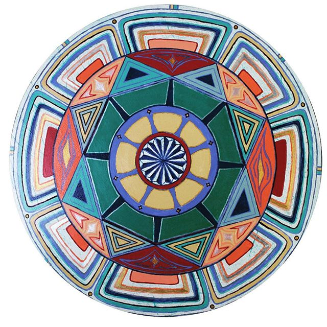 """Happy Aloha Friday!  This Mandala 40"""" is named """"Lift Off"""". #mandala #puakoinmotion #sacredgeometry"""