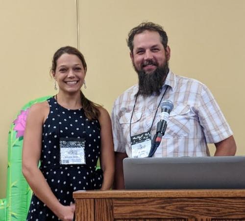 Rebecca Stubbs, 2018 George R. Cooley Awardee, with David Tank