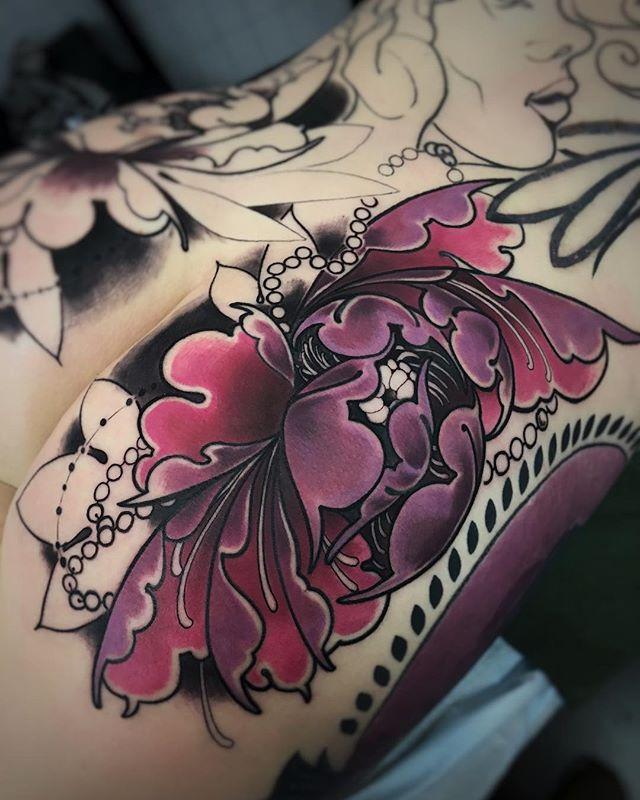 Round 2 for @jokuheim today! Tough as nails, this one is! . . . . . . #robbiecampbelltattoos #therawcanvas #merakiirons #fusionink #worldfamousink  #peakneedles  #afterinked #perfecttattoo #colortattoo #artstudio #tattoosofig #tattooideas #ink #tattoo #skinartmag #radtattoos #ink_ig #inkedup #handmade #colorado #art #newtattoo #thebesttattooartists #inkspired #tatuaje #inklife #inkaddict