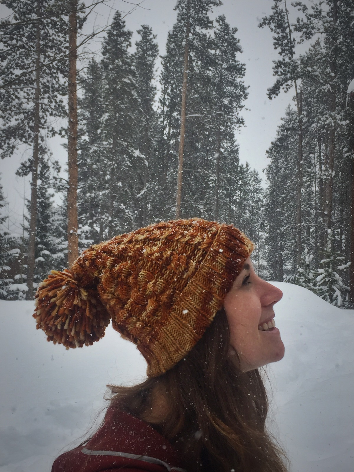 Wadi Rum colorway, Slouchy Cable Beanie pattern