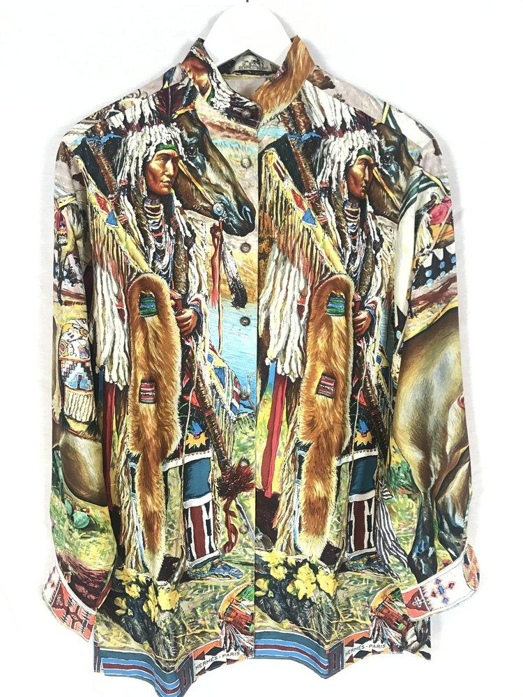 Hermès silk Indian motif