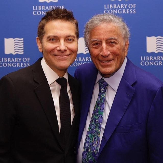 BIRTHDAY LEGEND! Tony Bennett (1926 - ) is one of the most enduring icons of the 20th century. He has created a body of work surpassed by none. Beginning his singing career in the late 1940s all the way to his current tour going on NOW! He has sold millions of albums and has 20 GRAMMYs!There is a reason why in 1965 Frank Sinatra said Tony was his favorite singer. Bravo Tony. I'm so glad we've gotten to work together as often as we have. Much love. @itstonybennett #tonybennett #ileftmyheartinsanfrancisco #crooner #legend
