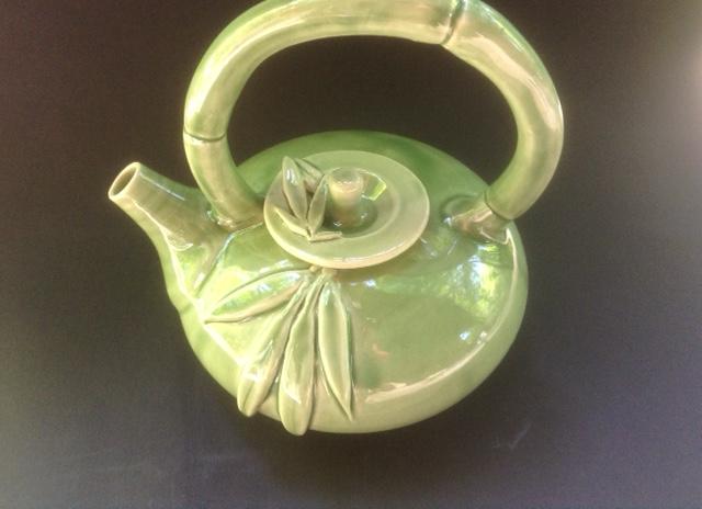 Celedon Bamboo Teapot