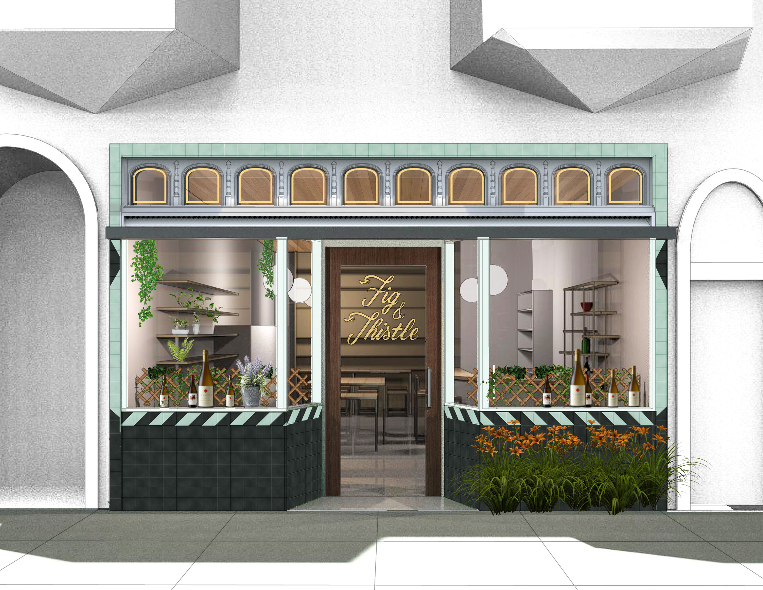 FIG AND THISTLE STOREFRONT RENDER
