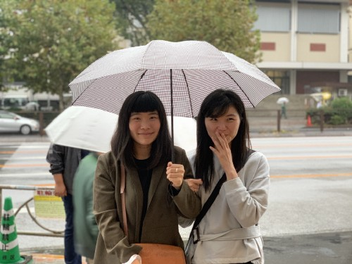 Bianca (left) and Wut in Tokyo. Photo by Yutian.