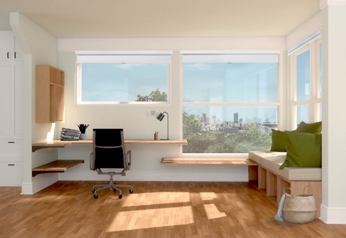 Bianca's rendering allowed the client to see how adding new windows could frame a view.