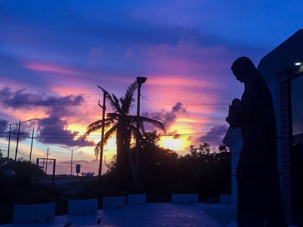 Sunset Near Catholic Church, Providenciales