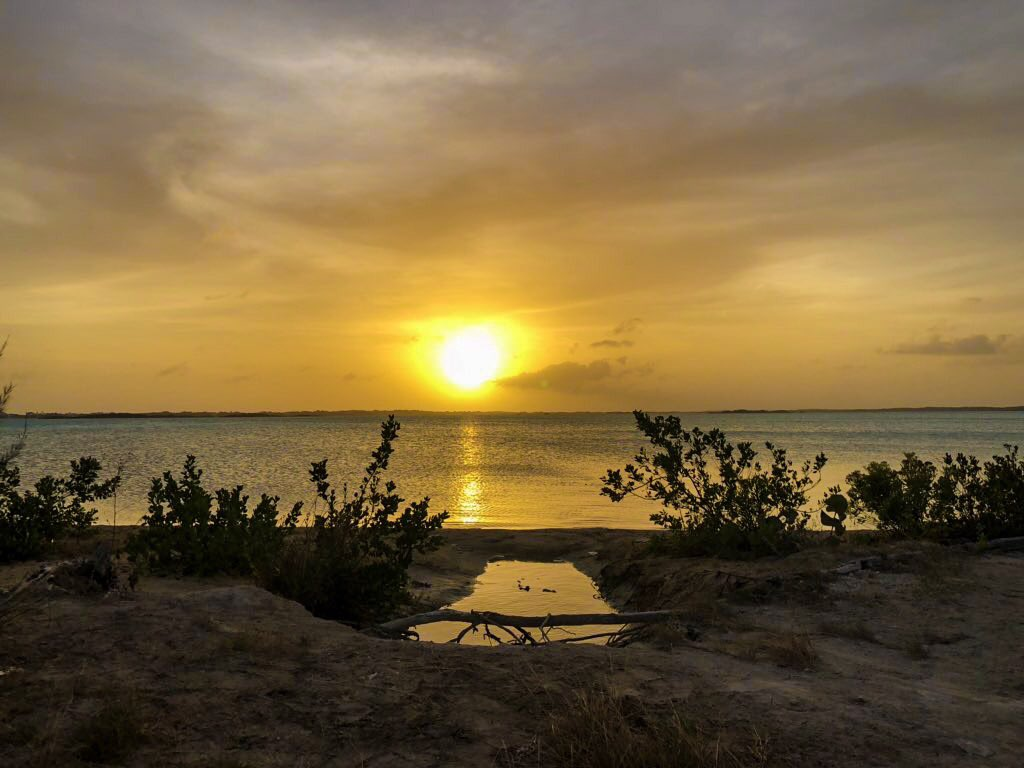 Sunset off Providenciales Beach