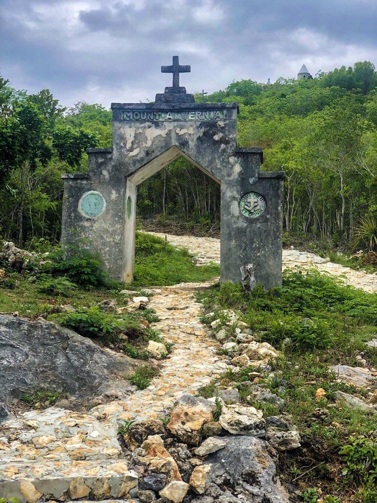 Entrance to Mount Alvernia, Cat Island