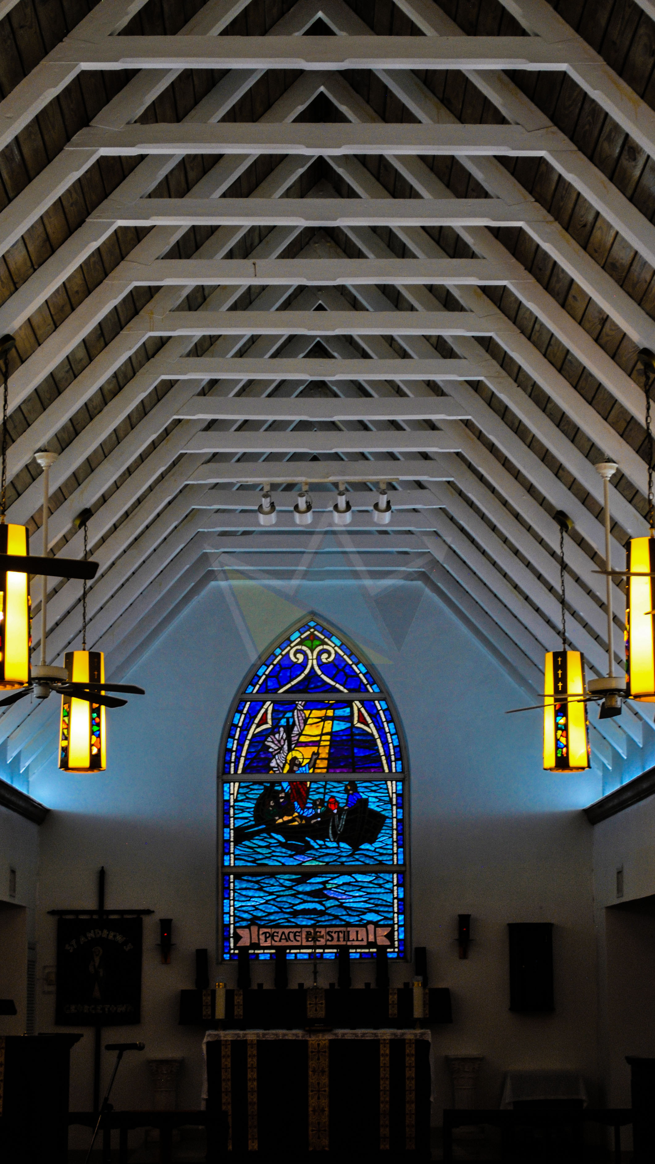 Stained Glass at St. Andrew's Anglican Church, George Town, Exuma