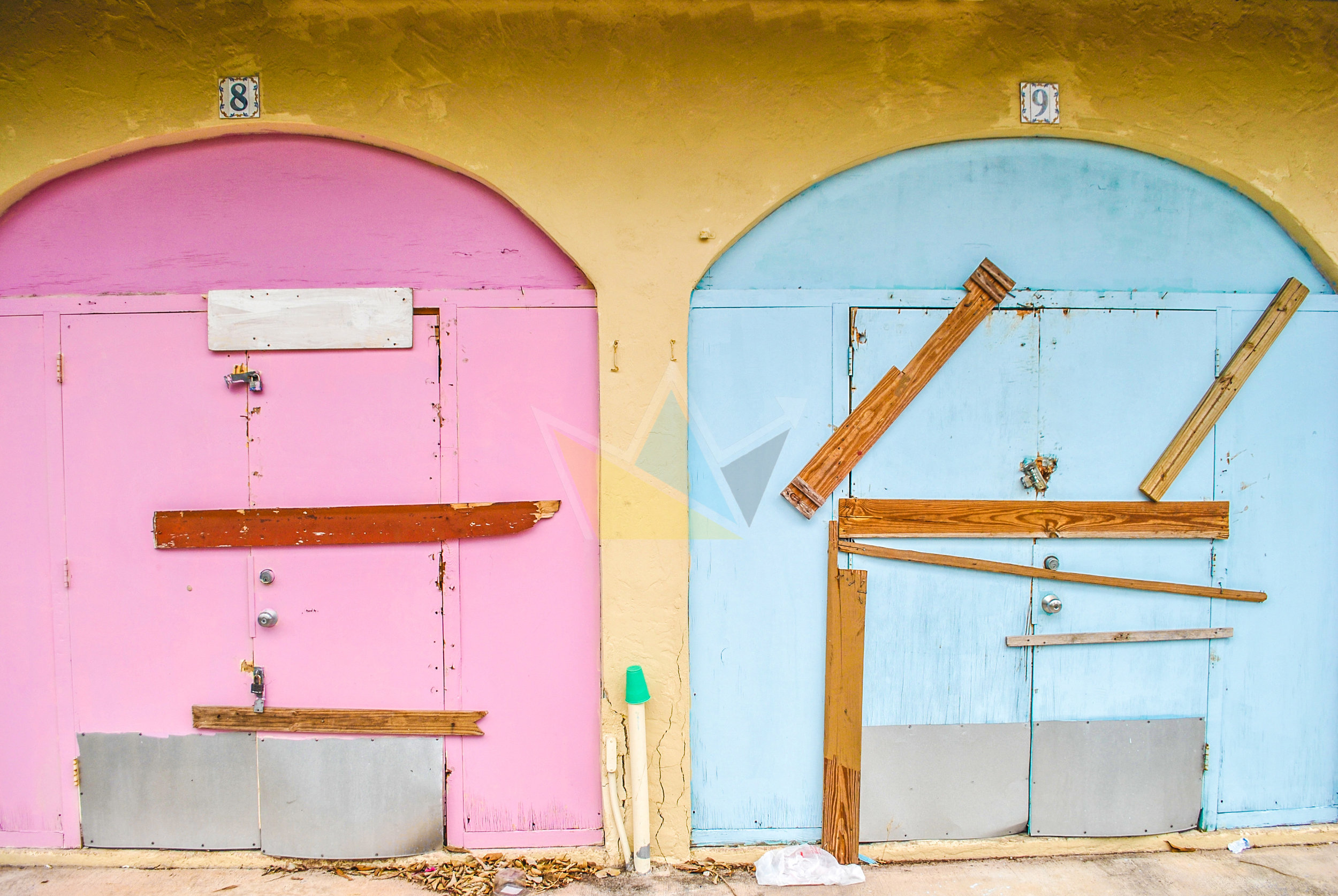 Closed Shops at the International Bazaar, Freeport, Grand Bahama