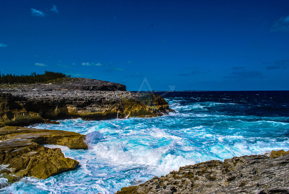 Crashing Waves at the Queen's Bath, Eleuthera