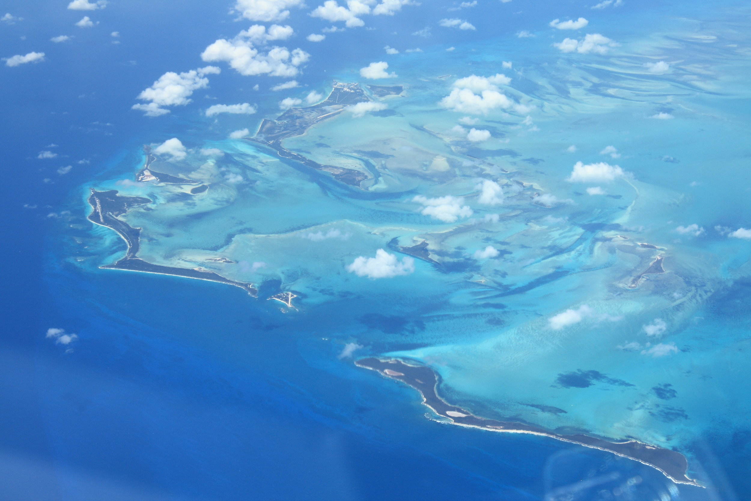 Aerial of the Berry Islands