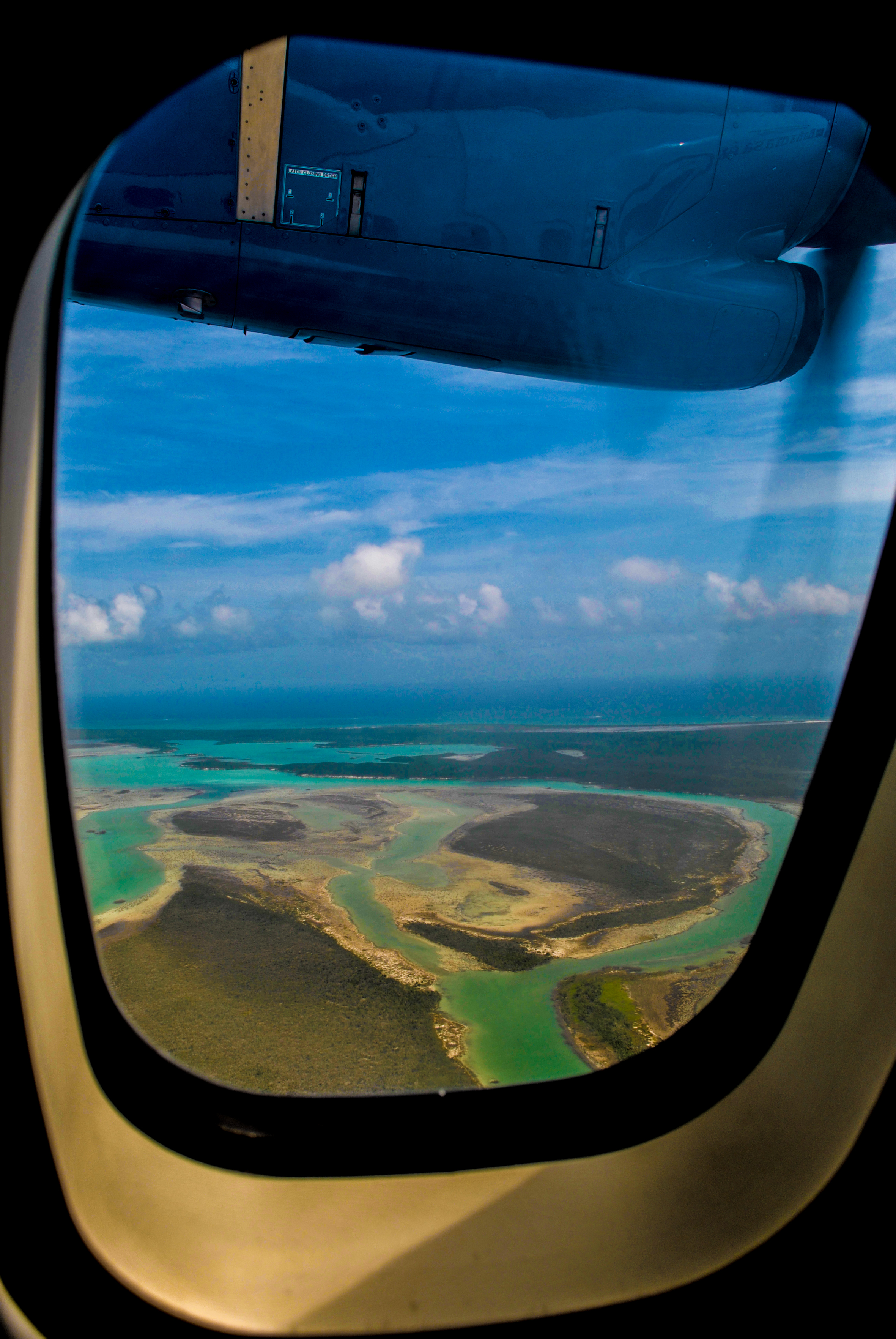 Flying over Crooked Island