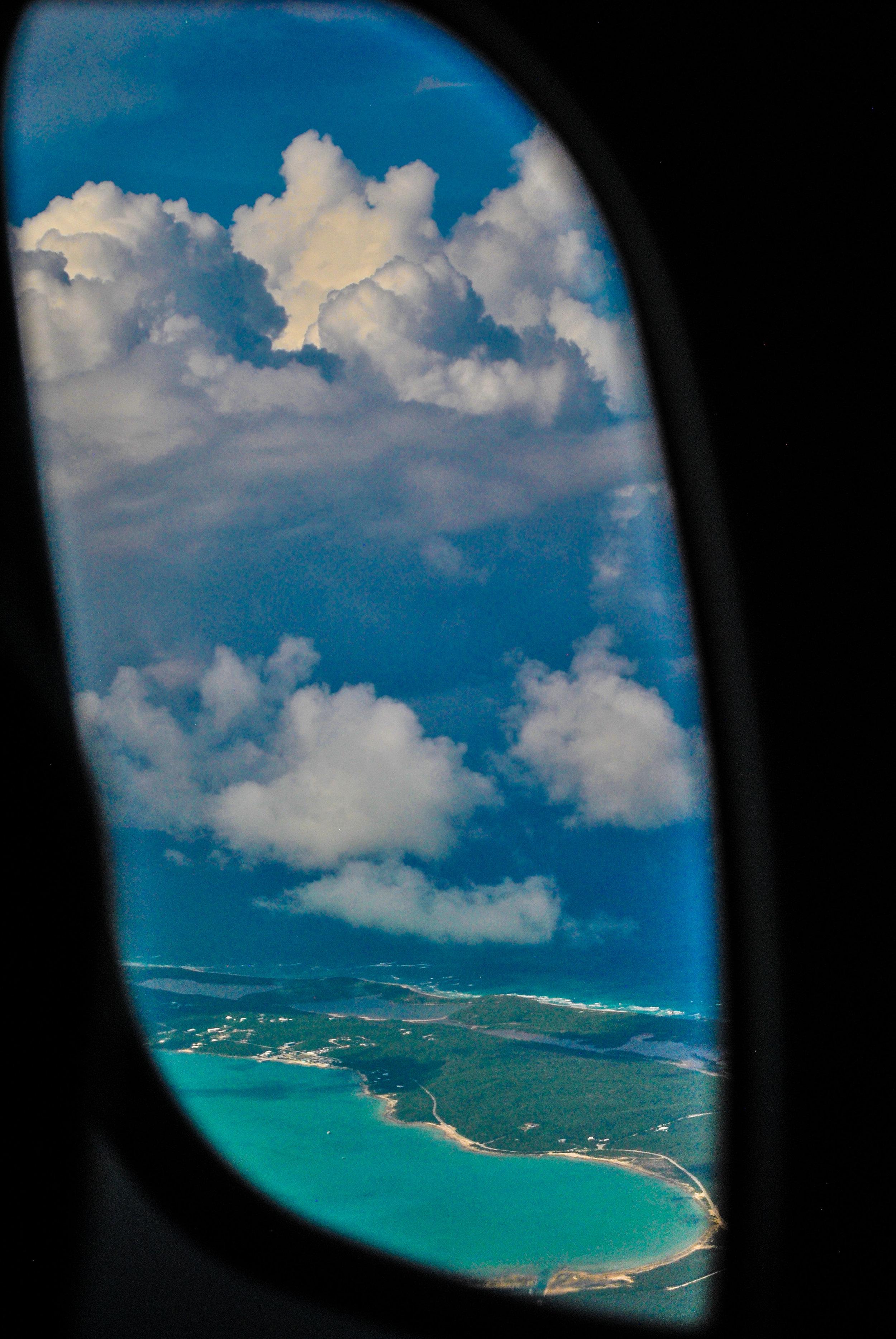 Flying over Long Island
