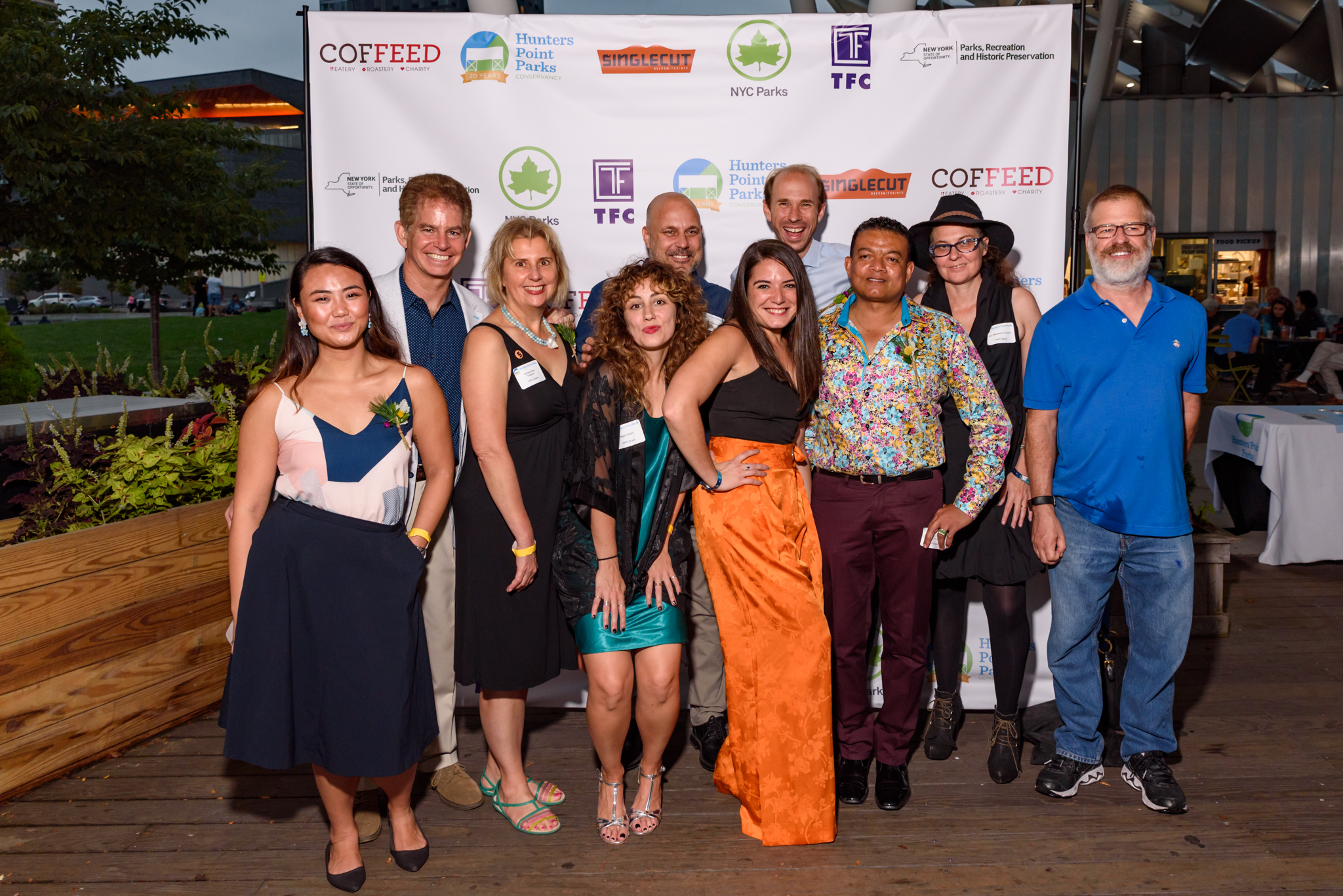Board Members (from Left to Right): Lilian Chen, Rob Basch, Barbara Etzel, Megan DiBello, Christian Murray, Ann Sansaricq, Matthew Wallace, Mark Christie, Ann Margaret O'Connor, Matt Quigley