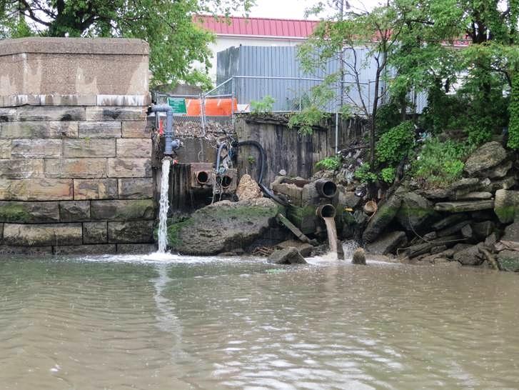 Combined Sewage Overflow in Newtown Creek