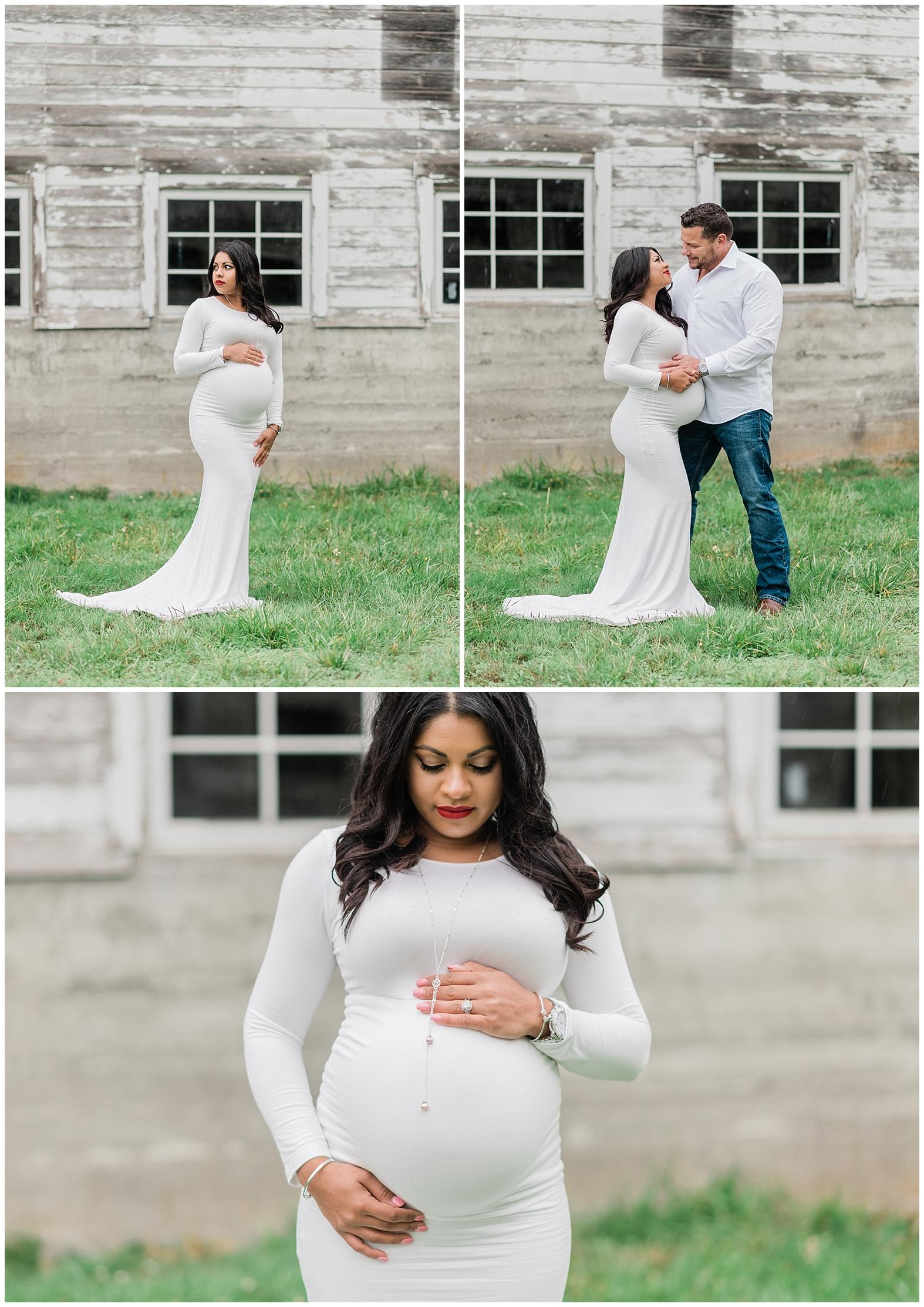 Rainy Maternity Photos | Janet Lin Photography