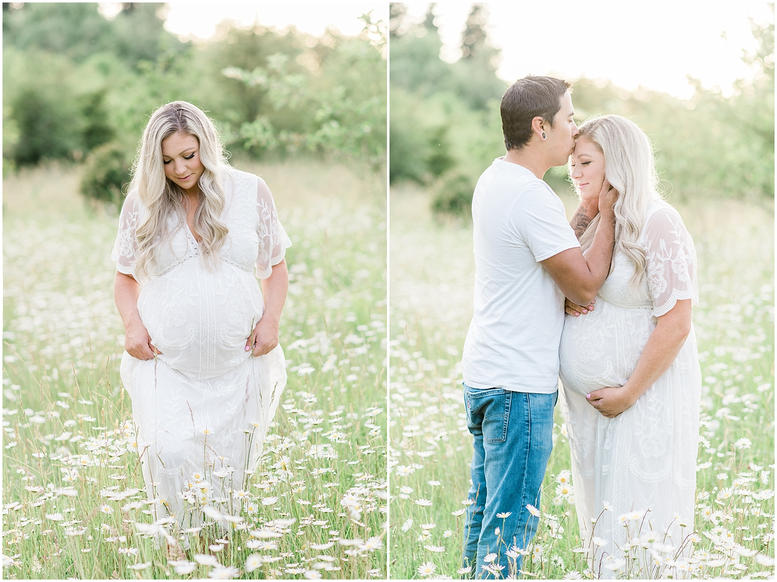 Wildflower Maternity Photos | Janet Lin Photography