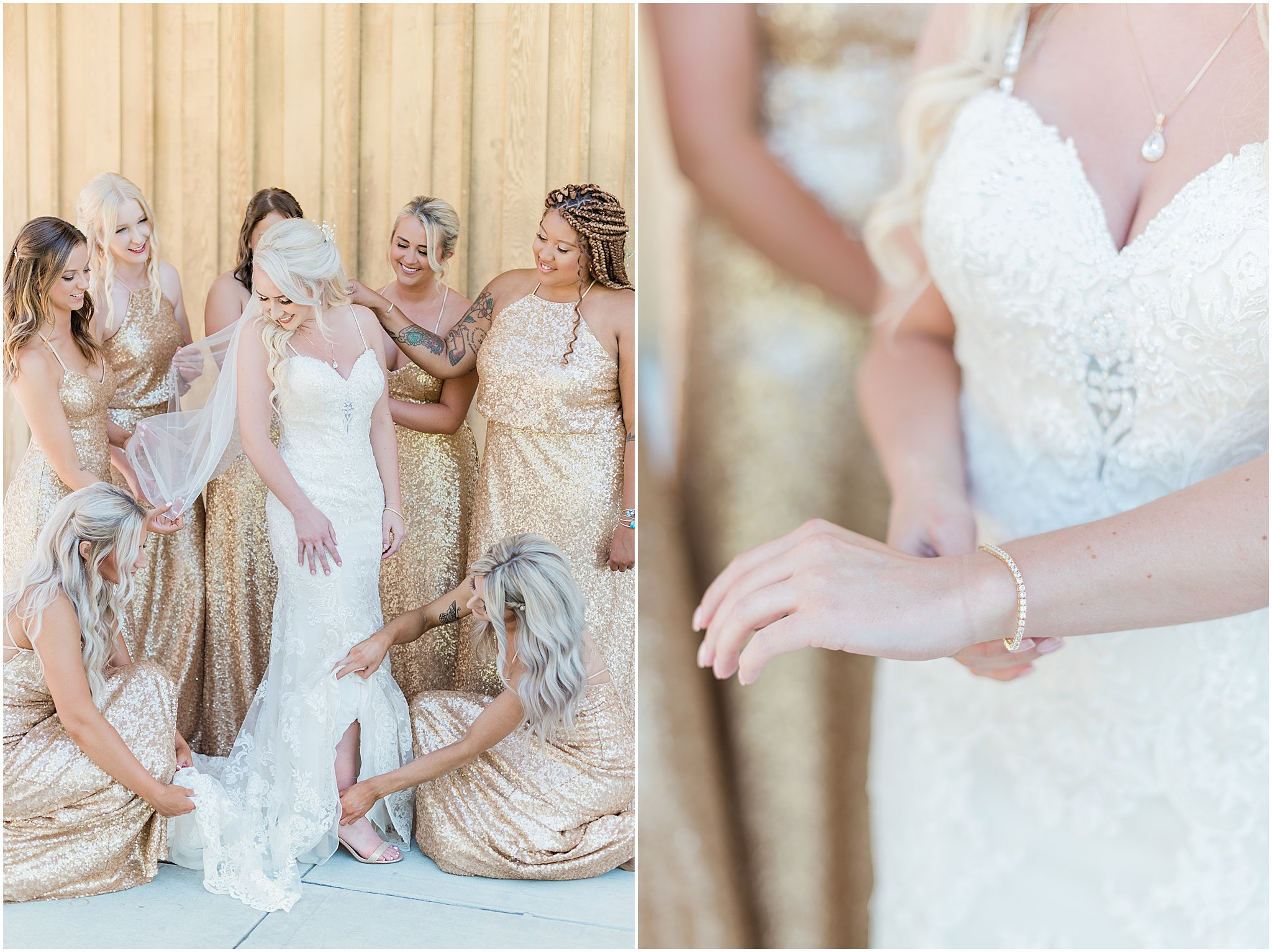 Blush & Gold Wedding | Janet Lin Photography