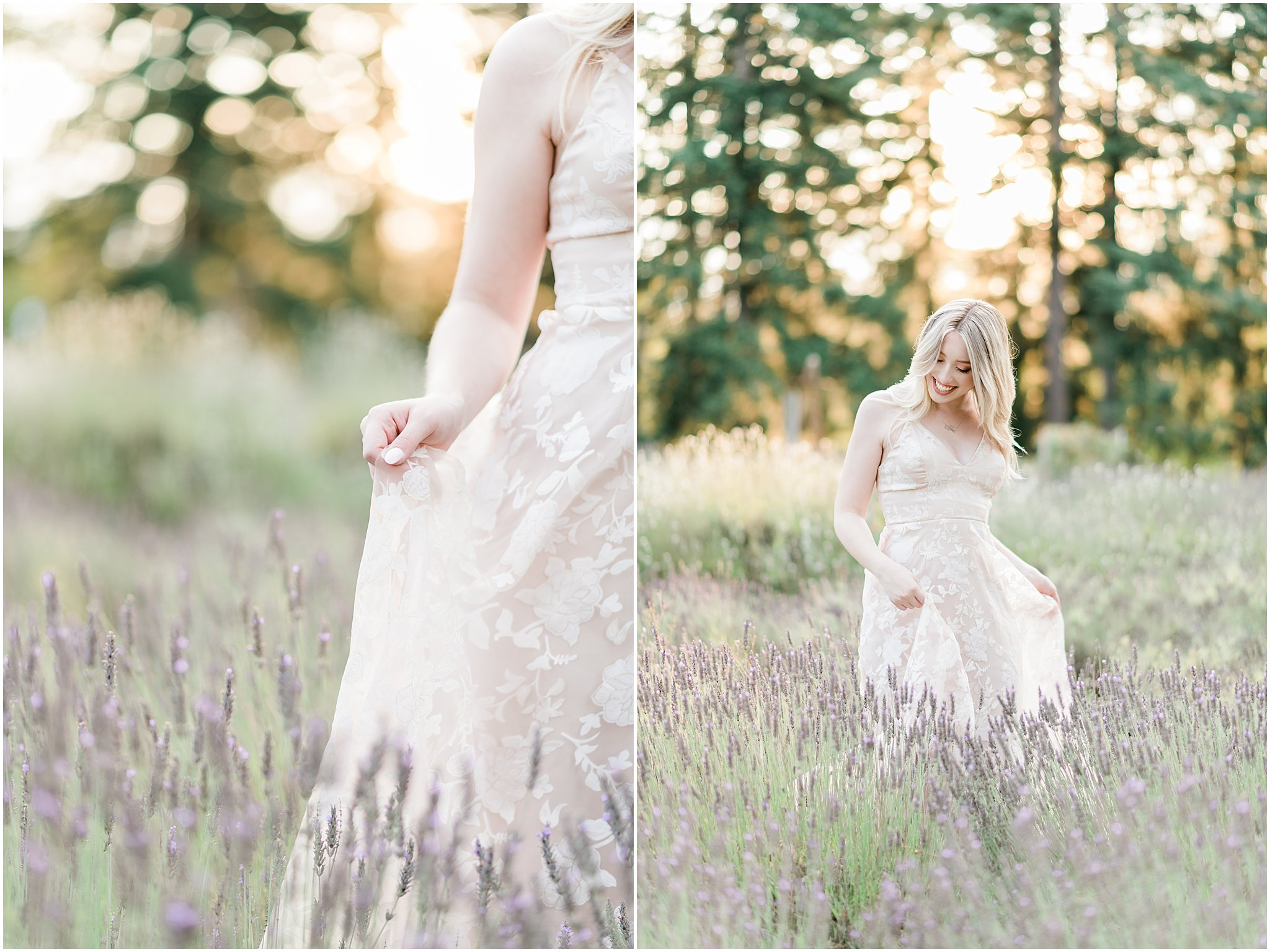 Lavender Field Engagement Photos | Janet Lin Photography
