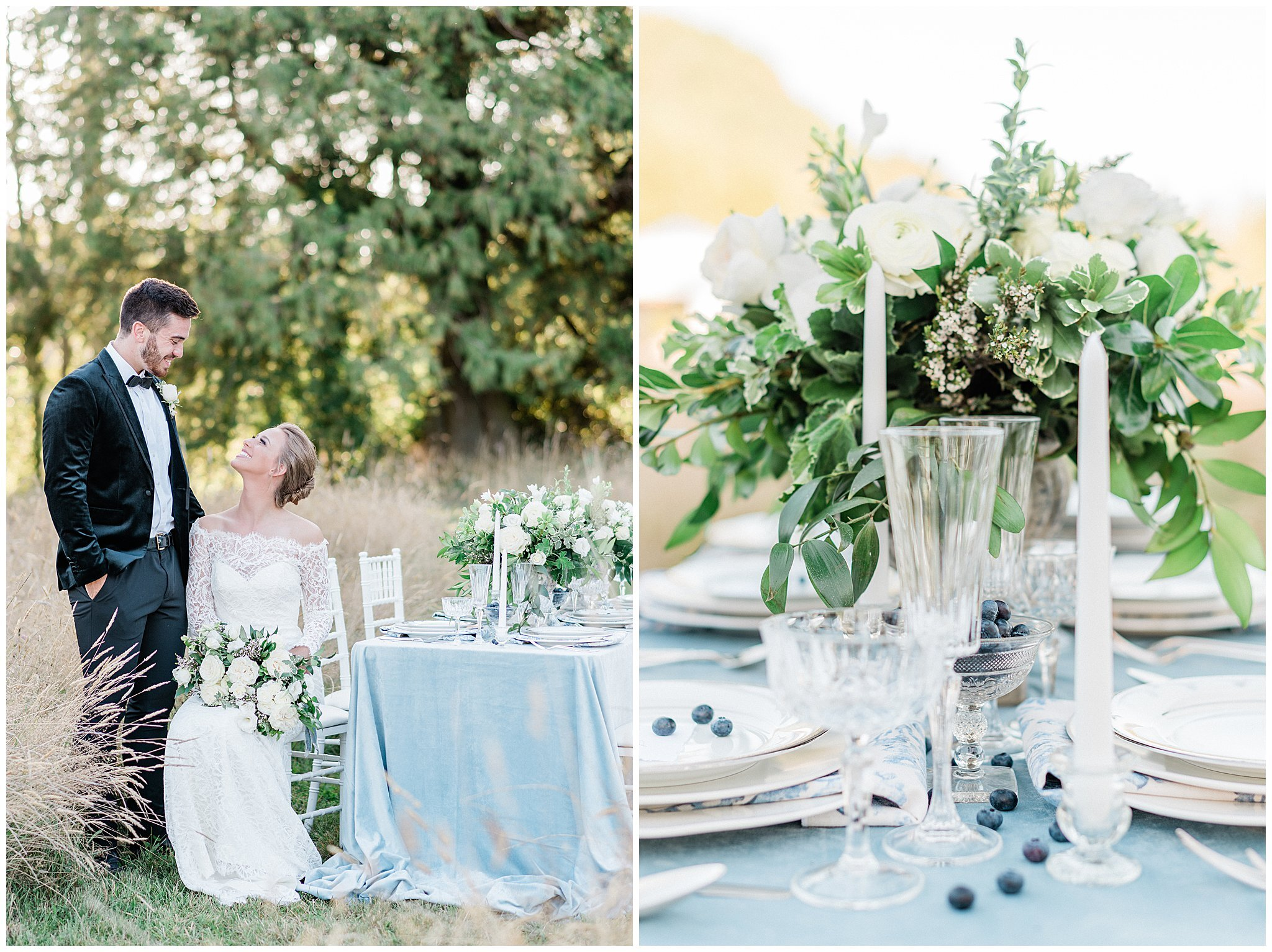 French Countryside Wedding Inspiration | Janet Lin Photography