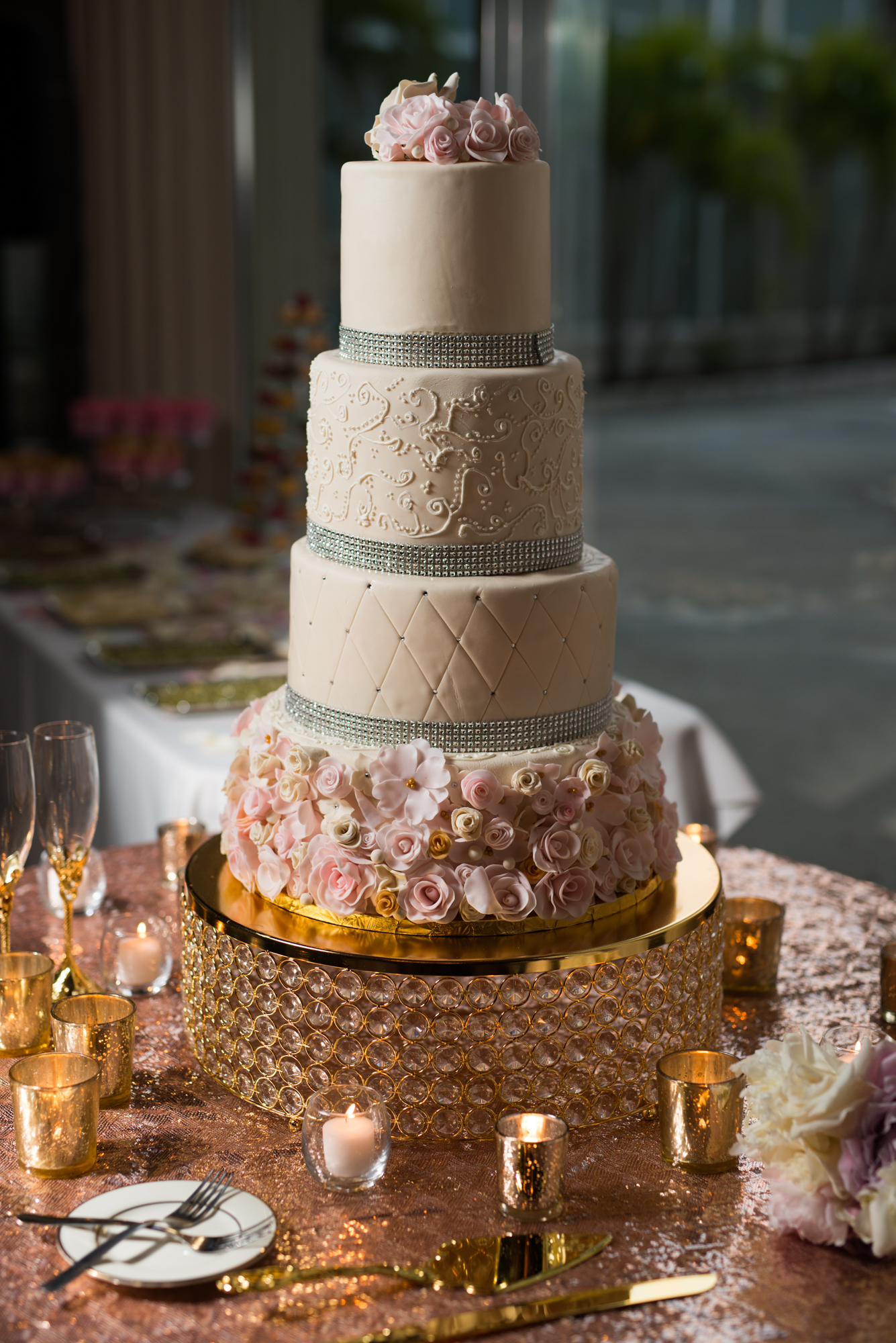 Mommy of Three Cakery - Their beautiful cake was provided by Mai Linda Nguyen of Mommy of Three Cakery.