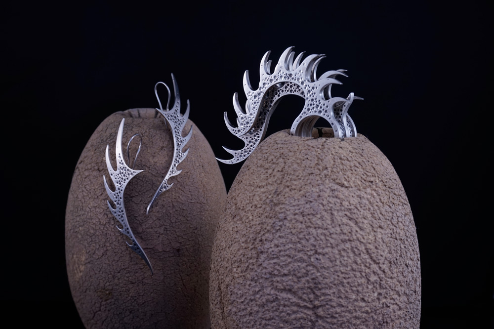 Nudibranch -Earrings and Multi-Stacker Ring