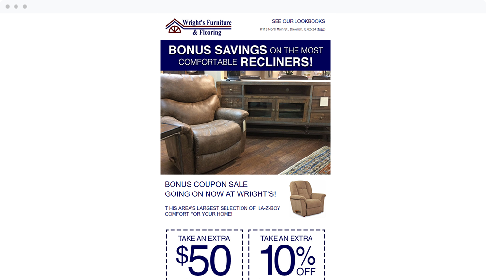Wrights Furniture (Dieterich, IL) -  View Email