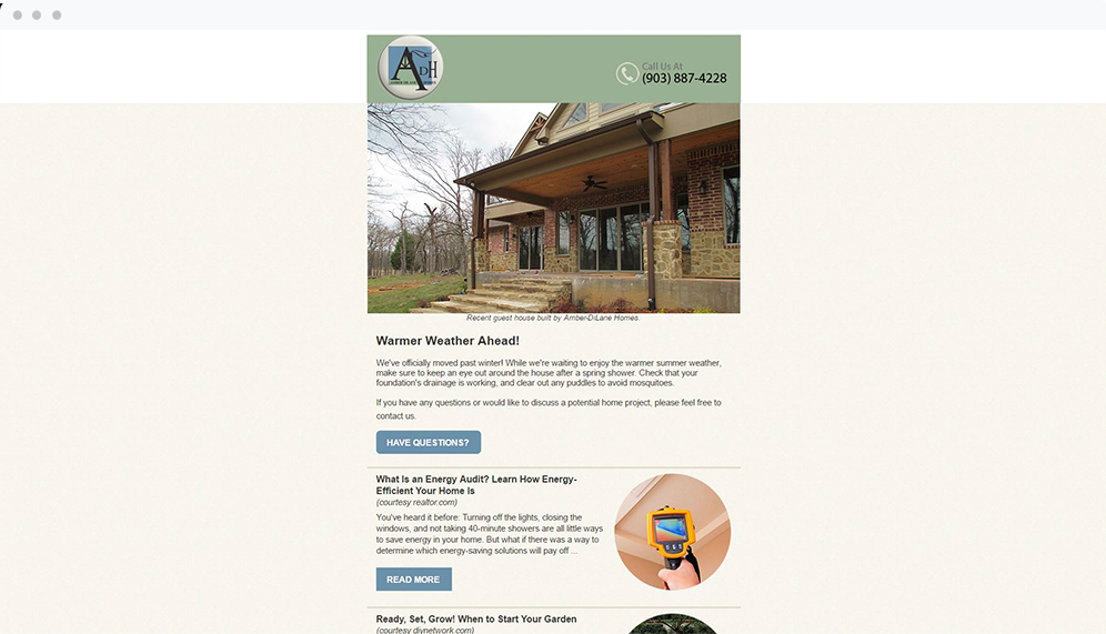 Amber DiLane Homes (Mabank, TX) -  View Email