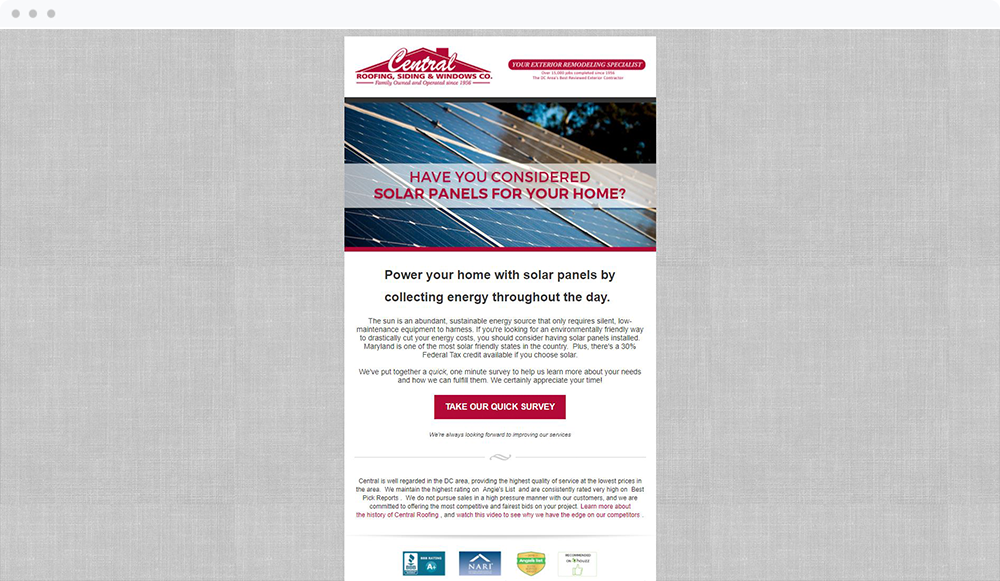 Central Roofing and Siding Co. (Rockville, MD) -  View Email