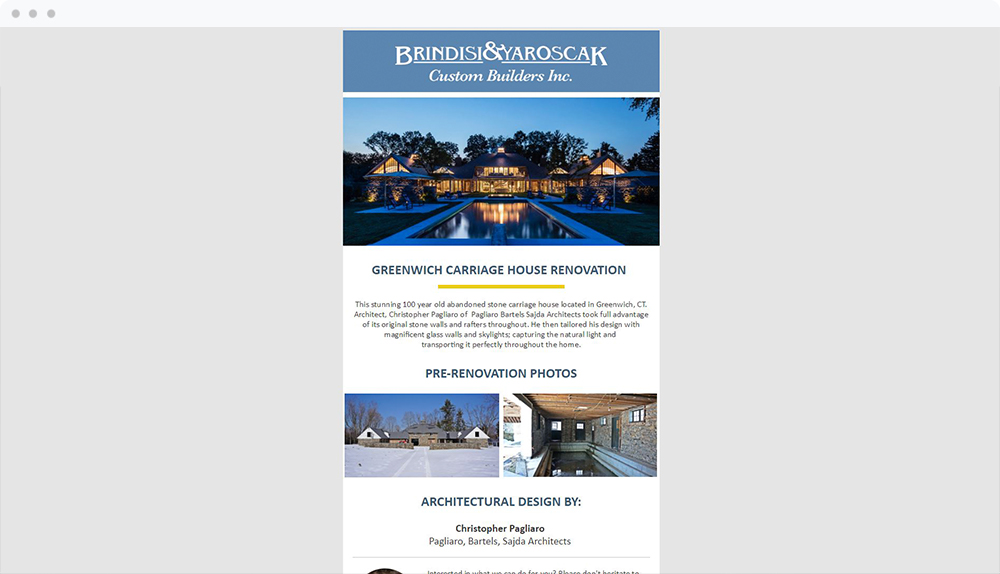 Brindisi and Yaroscak (Darien, CT) -  View Email