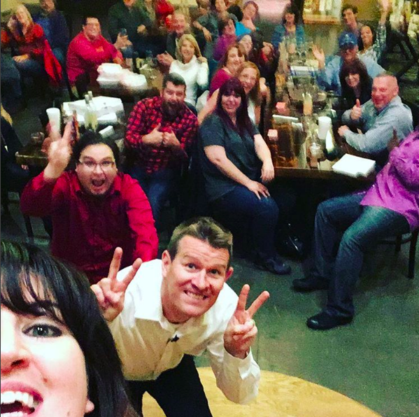 Me, in my happy place, performing improv with Nashville Improv.
