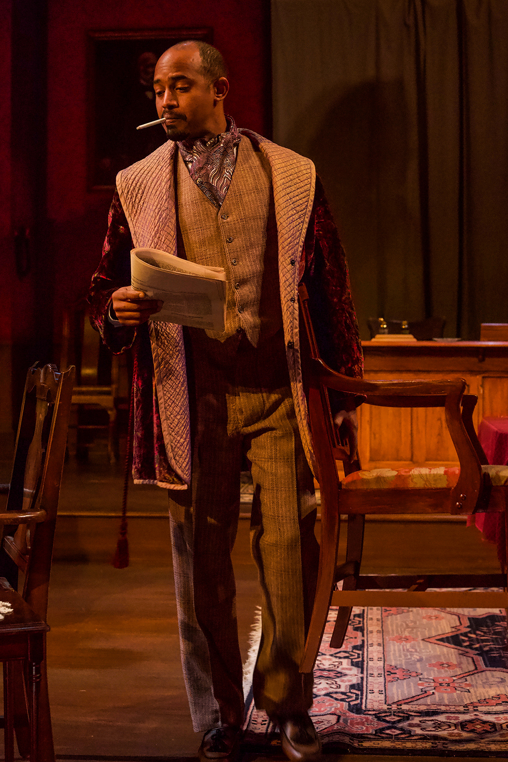 AJ as John Rutherford Jr. in RUTHERFORD AND SON