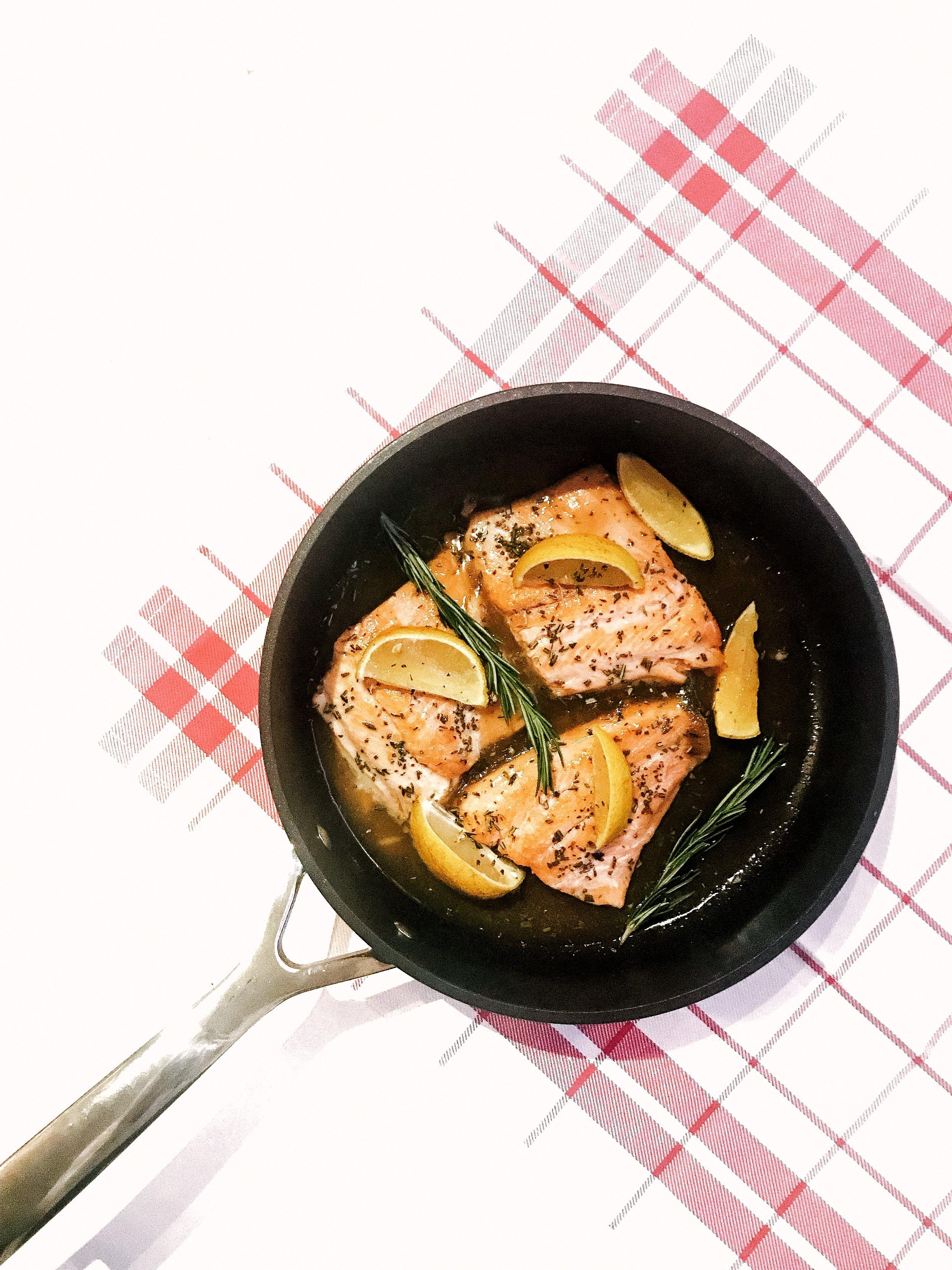 Lemon Rosemary Salmon - Healthy Dinner - AIP, GAPS, Paleo, Gluten-Free, Dairy-Free