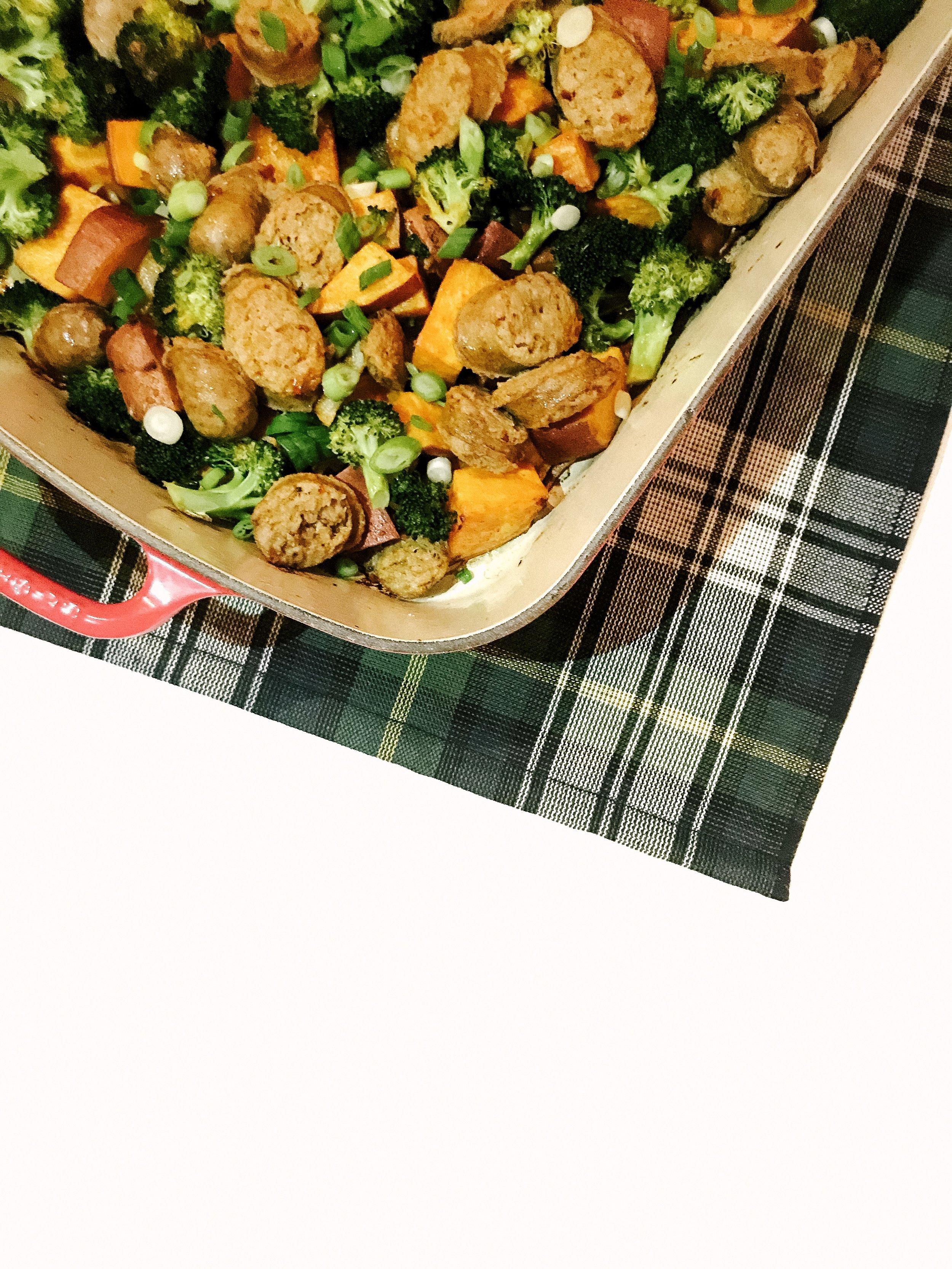 Spicy Sausage & Veggie Casserole (Paleo, Gluten-Free & Dairy-Free Family Dinner)