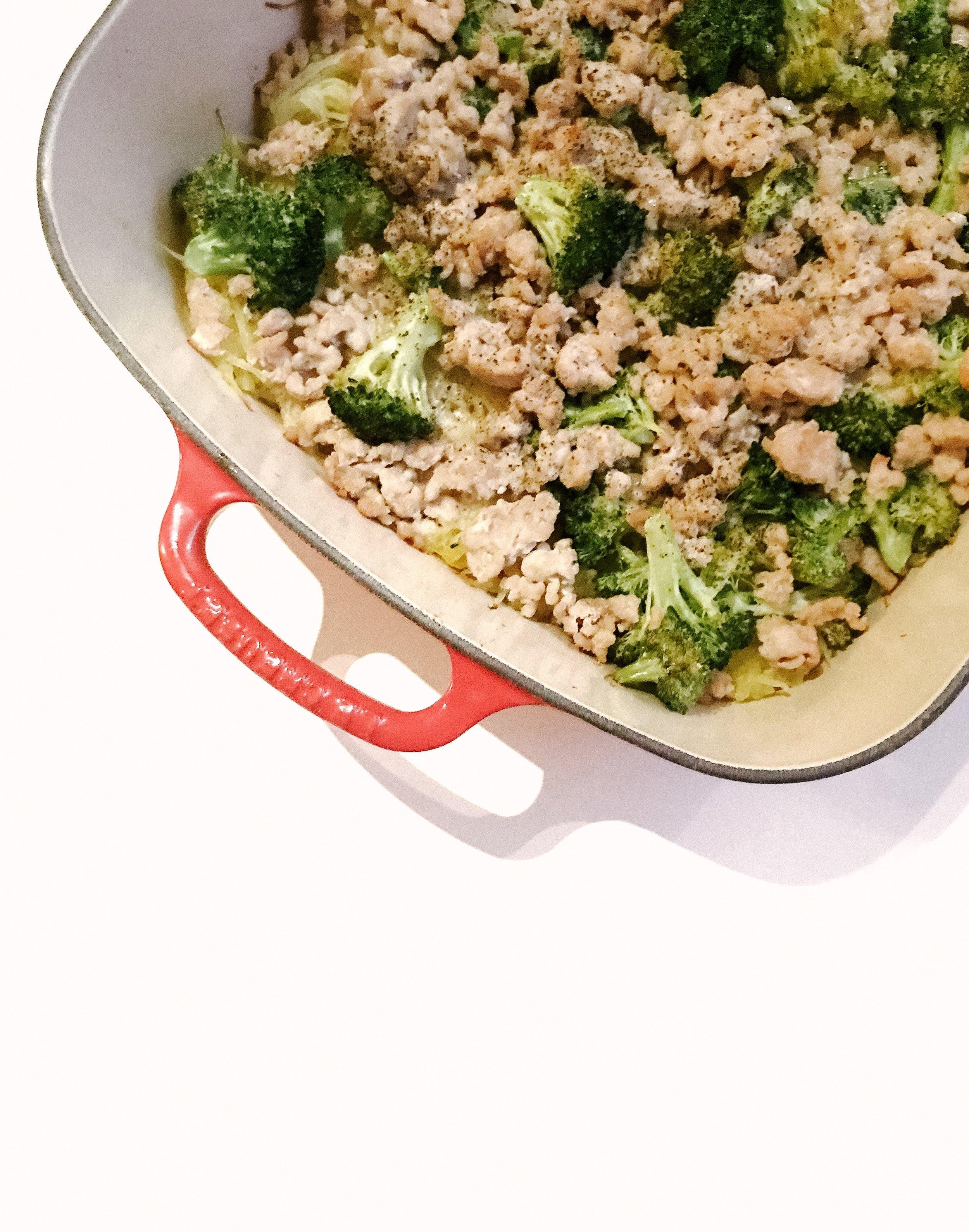 Creamy Garlic Spaghetti Squash Casserole (AIP, Paleo, GAPS, Gluten-Free, Dairy-Free, Dinner)