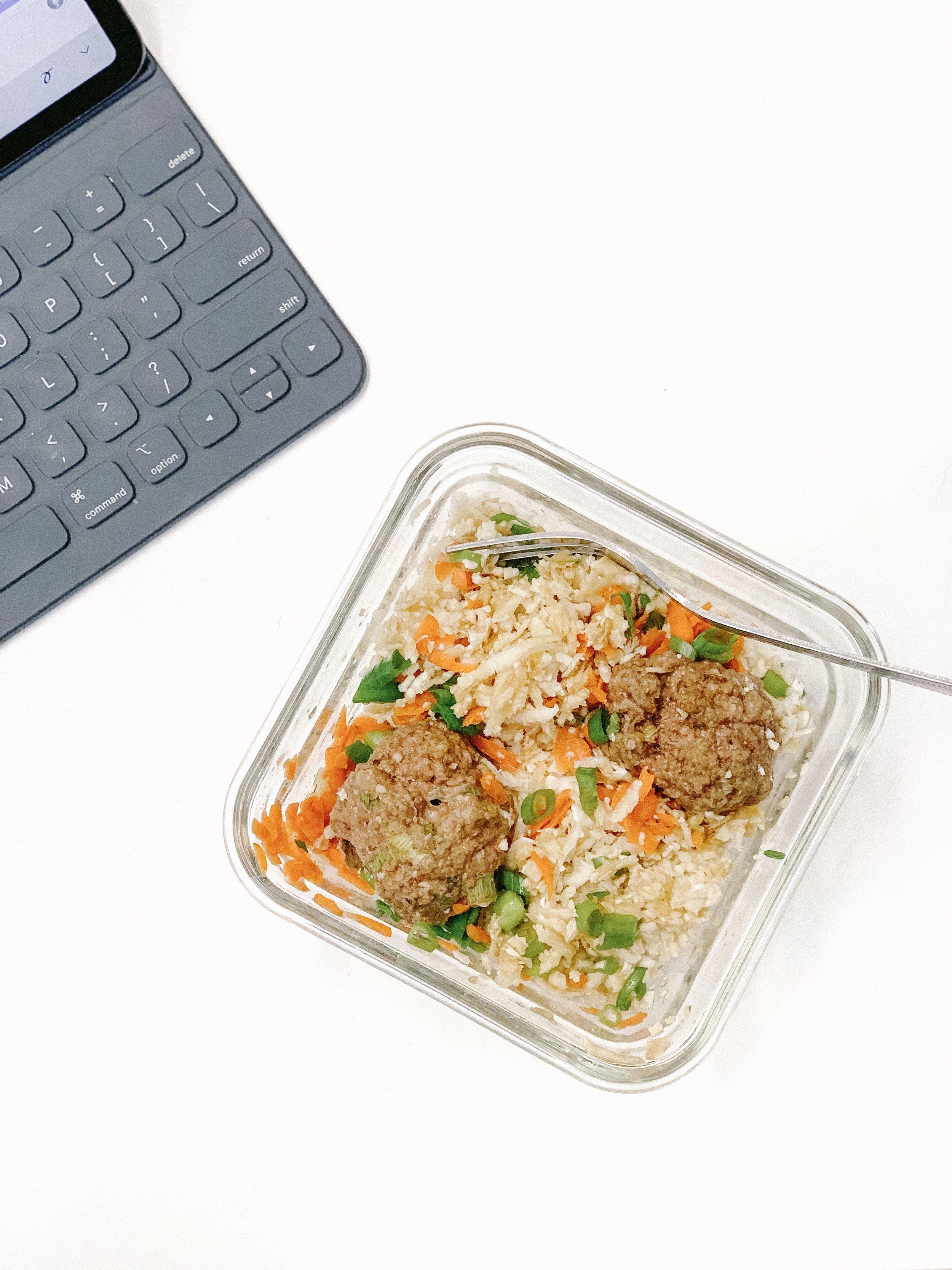 Asian Meatballs & Cauliflower Rice (AIP, GAPS, Paleo, Gluten-Free, Dairy-Free)