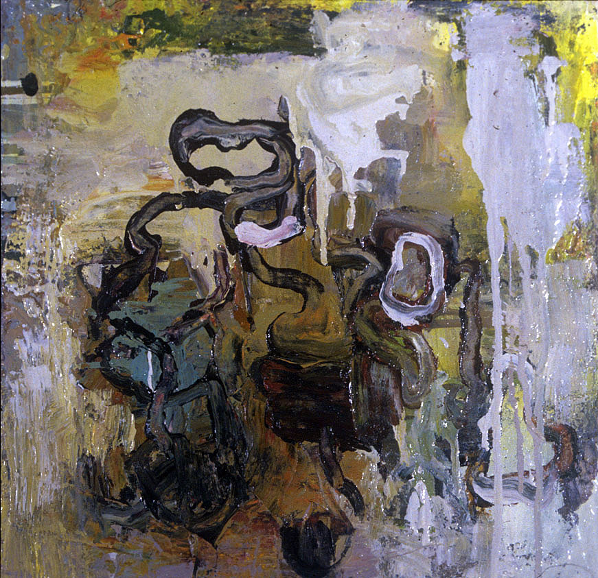 """UNTITLED #315 , 1989 OIL ON CANVAS, 16"""" x 16"""" (HAS515)"""