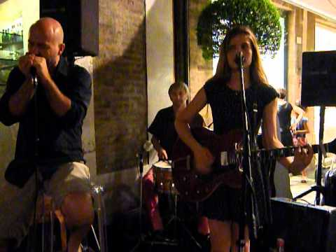 Violetta's father, Giuseppe Zironi performing with her on harmonica.