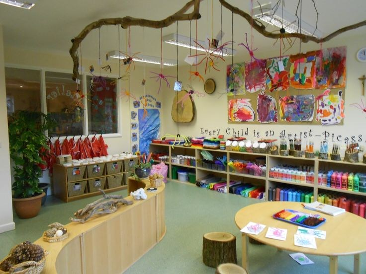 The environment of the classroom is aesthetically pleasing and reflects the beauty of nature.