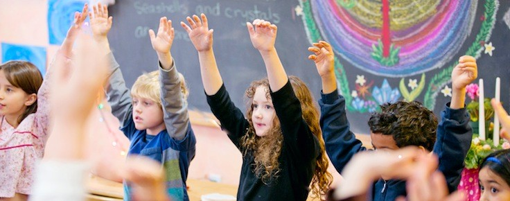 The Waldorf curriculum uses daily movement, dances, and song games with the purpose of nurturing children's physical and spiritual development. Central to the Waldorf approach are carefully selected materials and activities based on developmental stages and  sensitive periods  for learning.