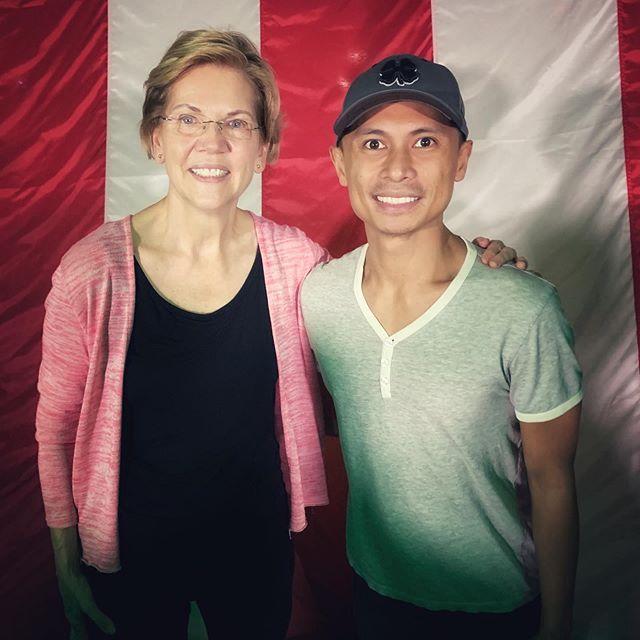 I just met the next President of the United States, @elizabethwarren.