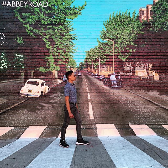"""""""And in the end, the love you take is equal to the love you make."""" @thebeatles #AbbeyRoad #LA #losangeles #notlondon"""