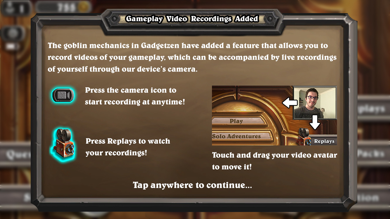 Copy of Video recording feature on boarding