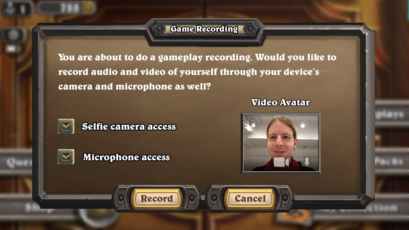 Copy of Turning on the video recording feature