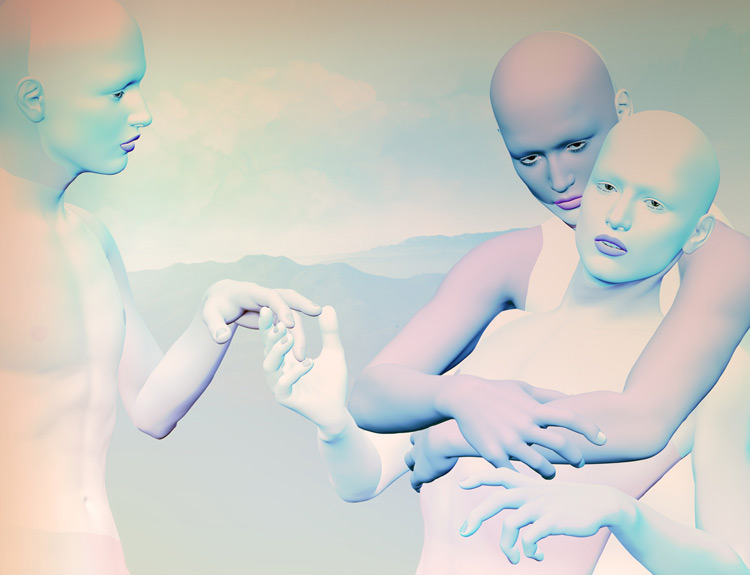 "Caress | Framed Inkjet Print | 60"" x 79"" | 2012"