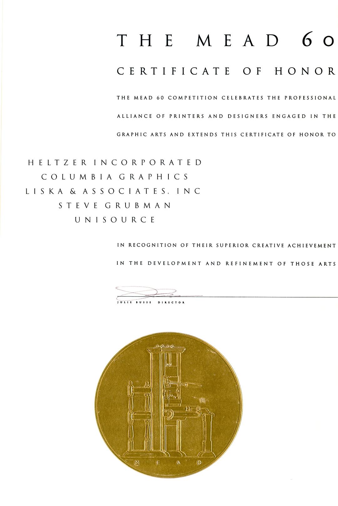 Mead 60 Certificate