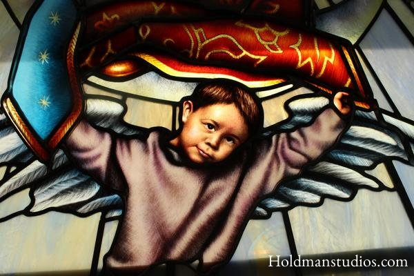 stained glass, Holdman studios